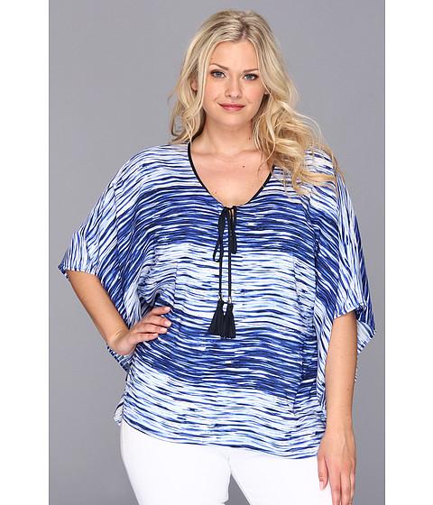 Bluze Vince Camuto - Plus Size River Stripe Caftan - Ocean
