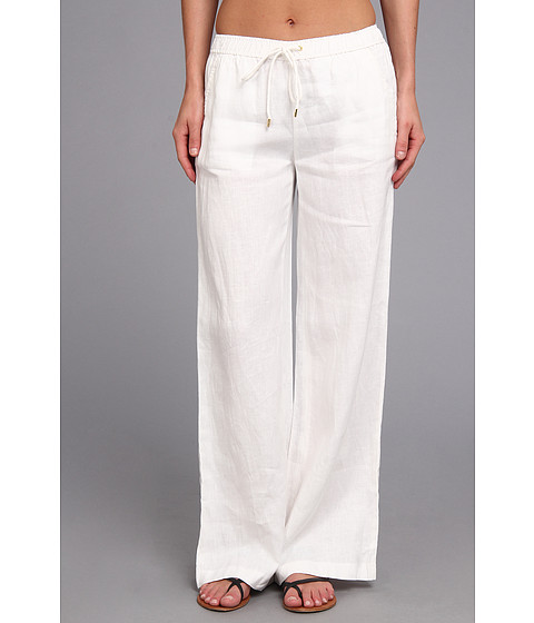 Pantaloni MICHAEL Michael Kors - Linen Wide Leg Pant - White