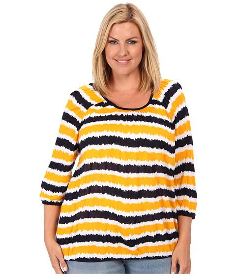 Bluze MICHAEL Michael Kors - Plus Size 3/4 Sleeve Scoopneck Peasant Top - Vintage Yellow