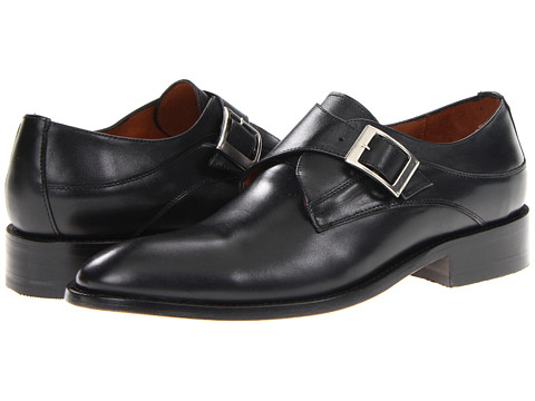 Pantofi Fitzwell - Ben Monkstrap - Black Leather
