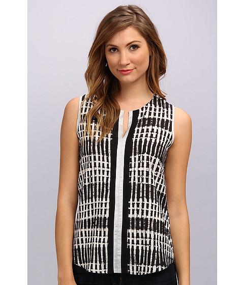 Bluze Calvin Klein - Print Top w/ Metallic Trim - Black/White Combo