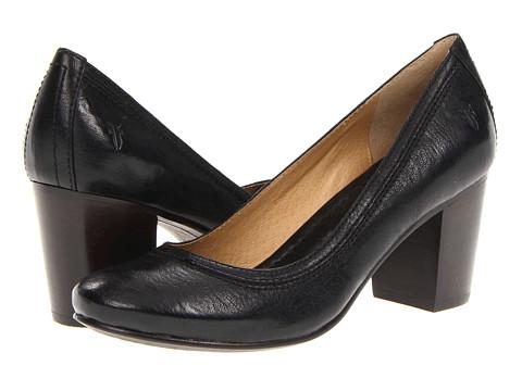 Pantofi Frye - Carson Mid Heel - Black Antique Soft Vintage Full Grain