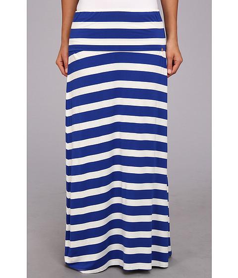 Fuste Calvin Klein - Thick Stripe Maxi Skirt - Blue/White