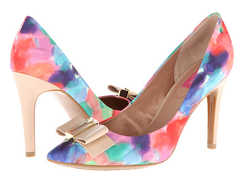 Pantofi Isaac Mizrahi New York - Lillie2 - Pink Multi Fabric/Natural