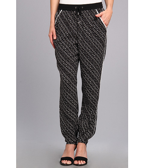Pantaloni Vince Camuto - Graphic Specks Drawstring Pant - Rich Black