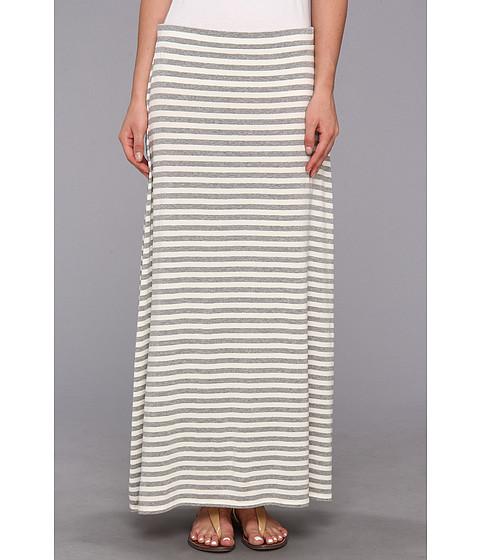 Fuste Vince Camuto - Marina Stripe Maxi Skirt - Light Heather Grey