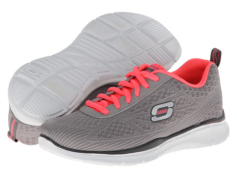 Adidasi SKECHERS - Equalizer 2 - Light Gray/Coral
