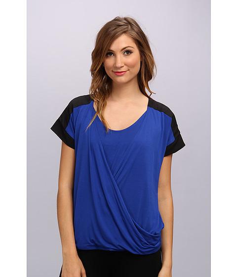 Bluze Calvin Klein - S/S Faux Wrap Top - Regatta