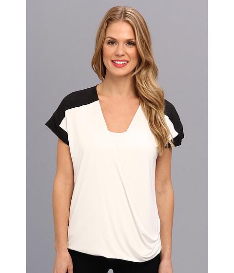 Bluze Calvin Klein - S/S Faux Wrap Top - White
