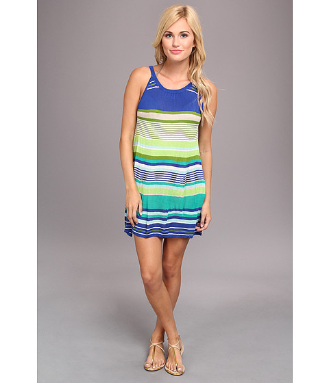 Costume de baie Echo Design - Pop Stripe Halter Dress Cover-Up - Primary Blue