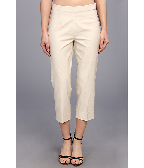 Pantaloni NIC+ZOE - The Perfect Pant - Side Zip Crop - Sandshell