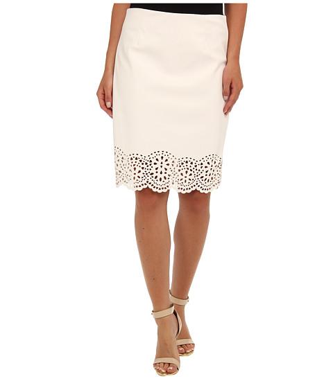 Fuste Calvin Klein - Laser Cut Pu Skirt - White