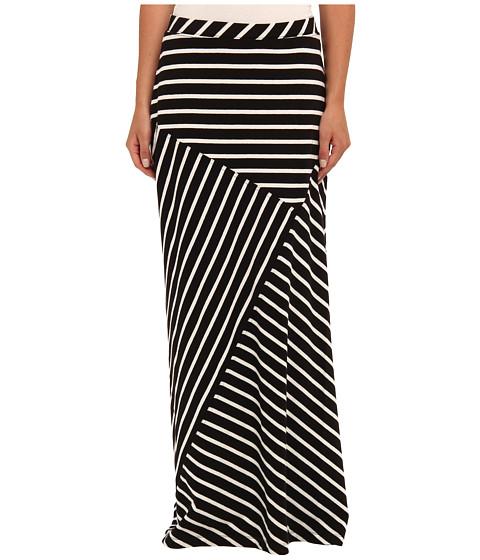 Fuste Jones New York - Seamed Maxi Skirt - Black/White