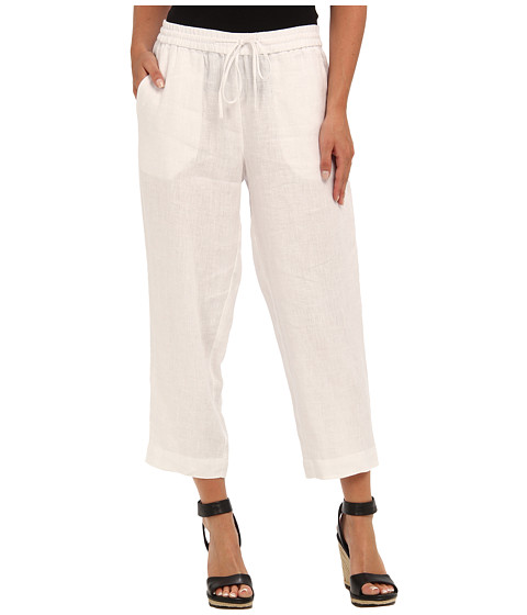 Pantaloni Jones New York - Pull On Pant w/ Back Patch Pocket - White