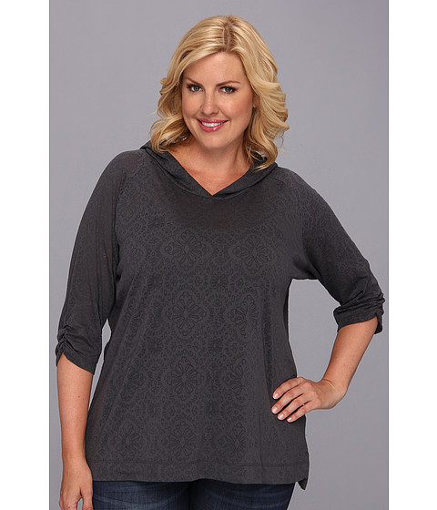 """Bluze Columbia - Plus Size See Through Youâ""""¢ Burnout Hoodie - Grill Floral"""