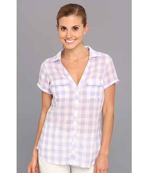 "Camasi Columbia - Sun Drifterâ""¢ S/S Shirt - Whitened Violet Gingham"