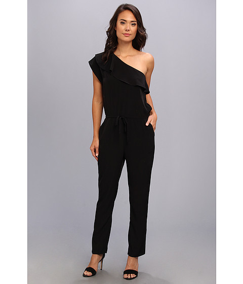 Pantaloni Kenneth Cole - Crepe One-Shoulder Jumpsuit - Black