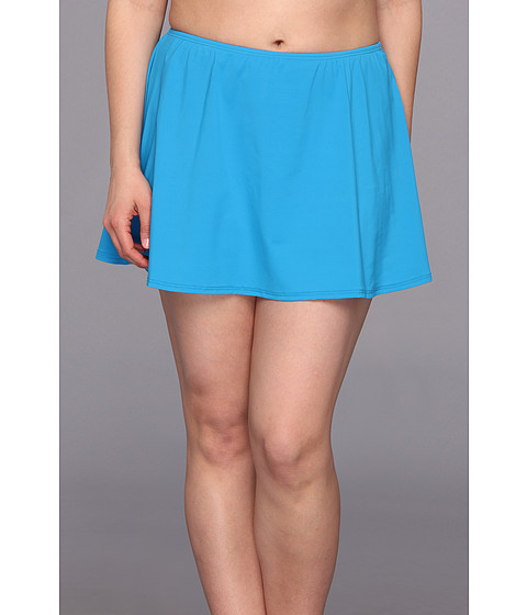 Costume de baie MICHAEL Michael Kors - Plus Size Linked Solids Skirted Bottom - Summer Blue