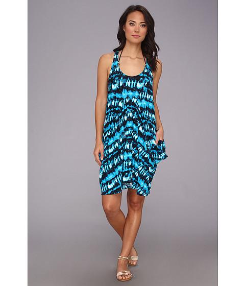 Costume de baie MICHAEL Michael Kors - Torino Tie Dye Draped Cover-Up - Summer Blue