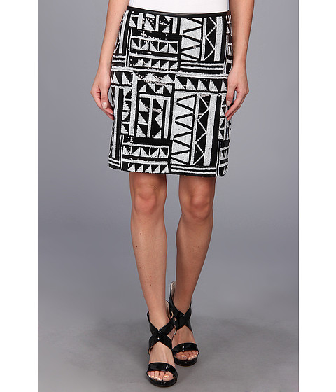 Fuste Vince Camuto - Tribal Sequin Skirt - Rich Black