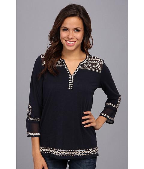 Bluze Lucky Brand - Kiana Embroidered Tunic - American Navy