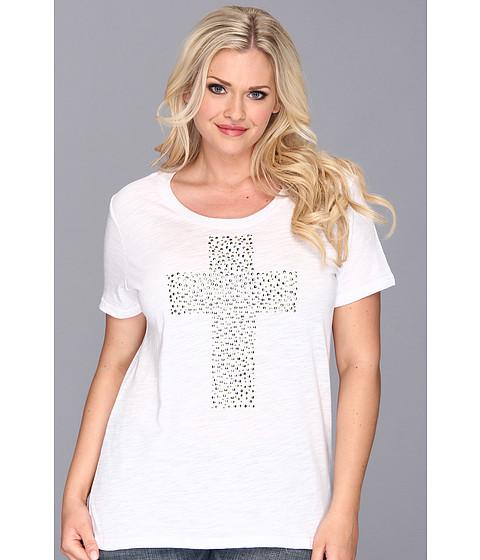 Bluze Roper - Plus Size 9061 Cotton/Poly Slub Jersey Tee - White