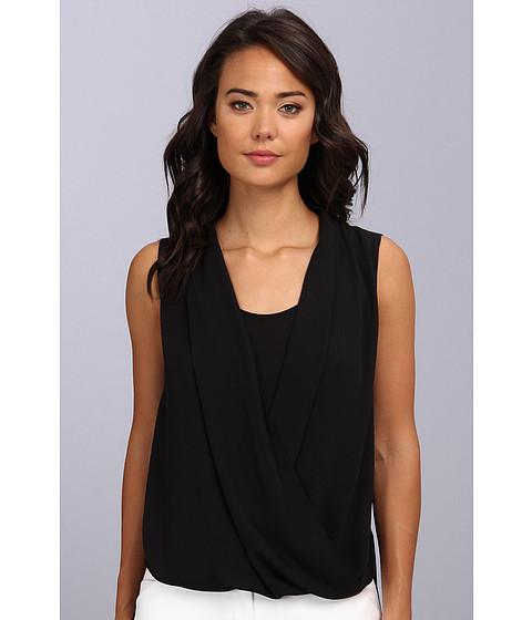 Bluze Vince Camuto - S/L Wrap Front Shirt Tail Blouse - Rich Black