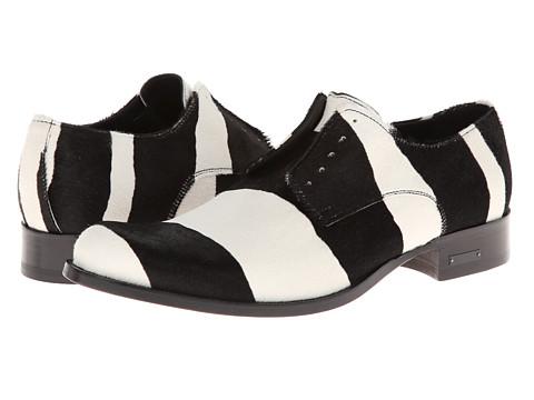 Pantofi DSQUARED2 - Barcello Pony Laced Up Oxford - Zebra