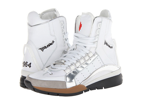 Adidasi DSQUARED2 - 551 High Top Sneaker - White/Silver