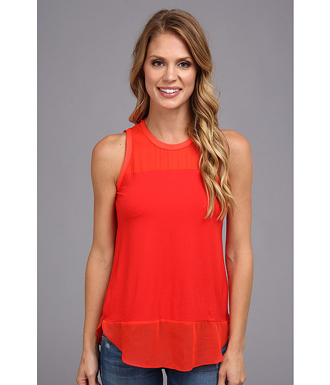 Bluze Vince Camuto - Mixed Media Tank - Flame
