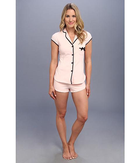 Lenjerie Betsey Johnson - Heart Button Short Set - Soft Pink