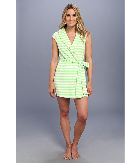 Lenjerie Betsey Johnson - Robe Baby Terry - Beach Stripe Xox Green Gecko