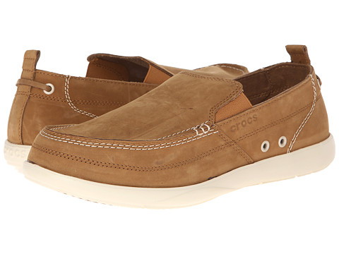 Pantofi Crocs - Harborline Nubuck Loafer - Hazelnut/Stucco