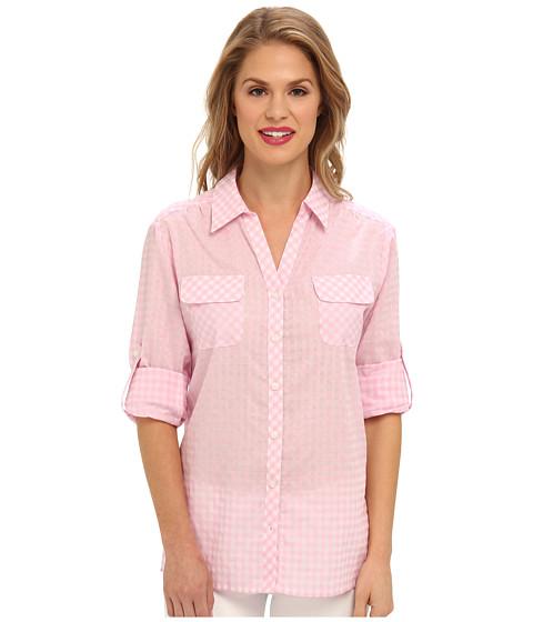 Camasi Jones New York - L/S Roll Shirt w/ Patch Pockets - Peony/White