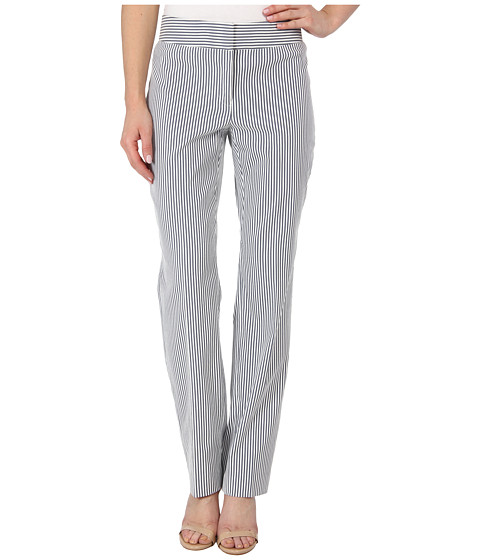 Pantaloni Nine West - Seersucker Slim Trouser Pant - Navy/White