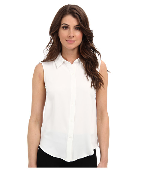 Bluze Nine West - Light Weight Crepe Sleeveless Button Front Blouse - Lily