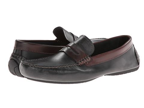 Pantofi Johnston & Murphy - Cowan Penny - Black & Dark Brown Full Grain