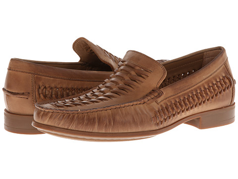 Pantofi Johnston & Murphy - Cresswell Huarache Weave Venetian - Taupe Calfskin