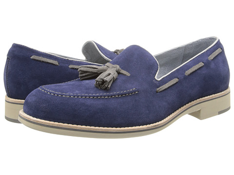 Pantofi Johnston & Murphy - Ellington Tassel - Royal Blue & Gray Suede