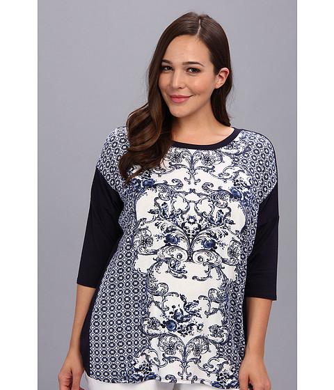 Bluze Karen Kane - Plus Size Scoop Neck Top - Blue