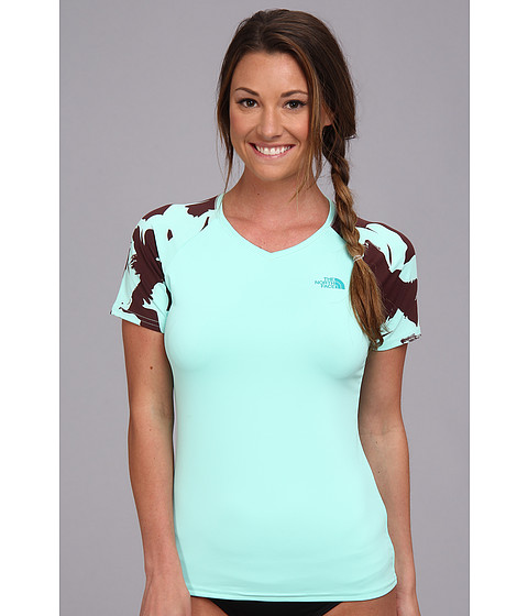 Bluze The North Face - Class V Graphic Shirt - Beach Glass Green/Fudge Brown Flower Print