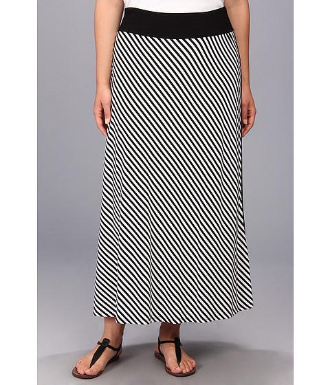 Fuste Karen Kane - Plus Size Contrast Front Maxi Skirt - Stripe