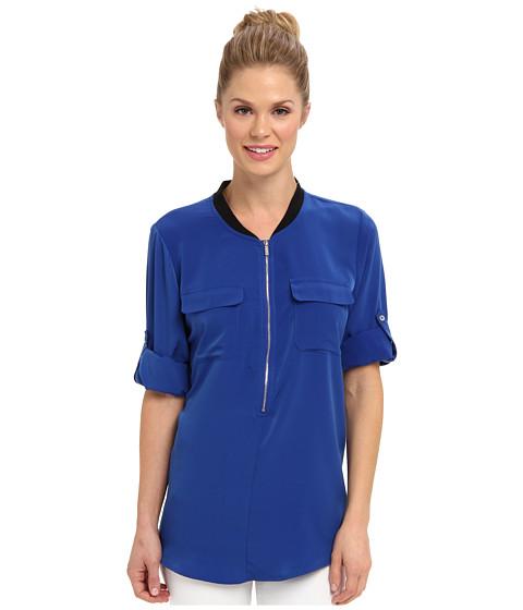 Bluze Calvin Klein - Rib Neck Roll Sleeve - Regatta