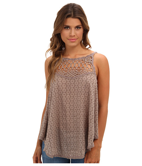 Bluze Free People - I Got My Eyelet On You - Taupe