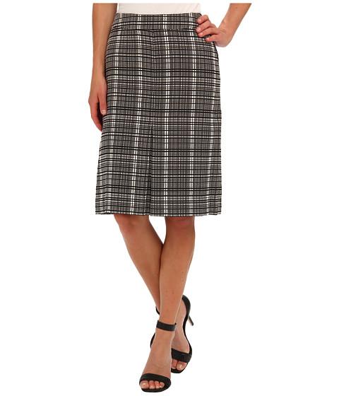 Fuste Jones New York - A-Line Pleated Front Skirt - Black/White