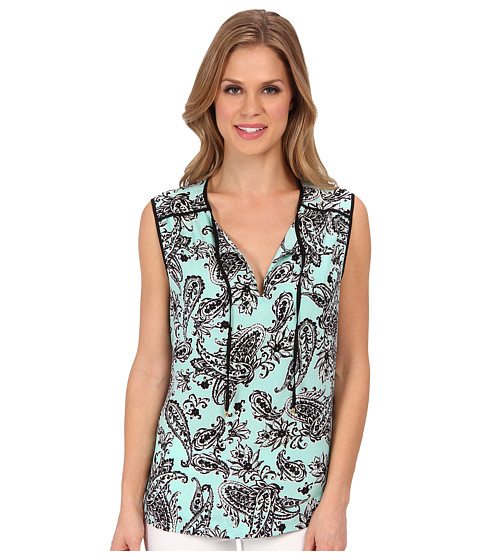 Bluze Jones New York - Sleeveless Tunic - Light Aqua Combo