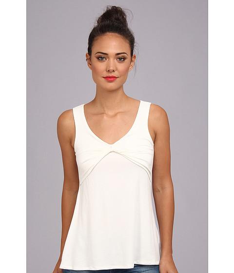 Bluze Christin Michaels - Leea Draped Sleeveless Top - Off-White
