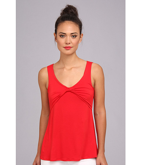 Bluze Christin Michaels - Leea Draped Sleeveless Top - Red