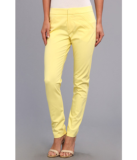 Pantaloni Christin Michaels - Ankle Pant with Angle Slit Pockets - Butter