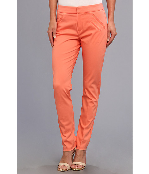 Pantaloni Christin Michaels - Ankle Pant with Angle Slit Pockets - Coral